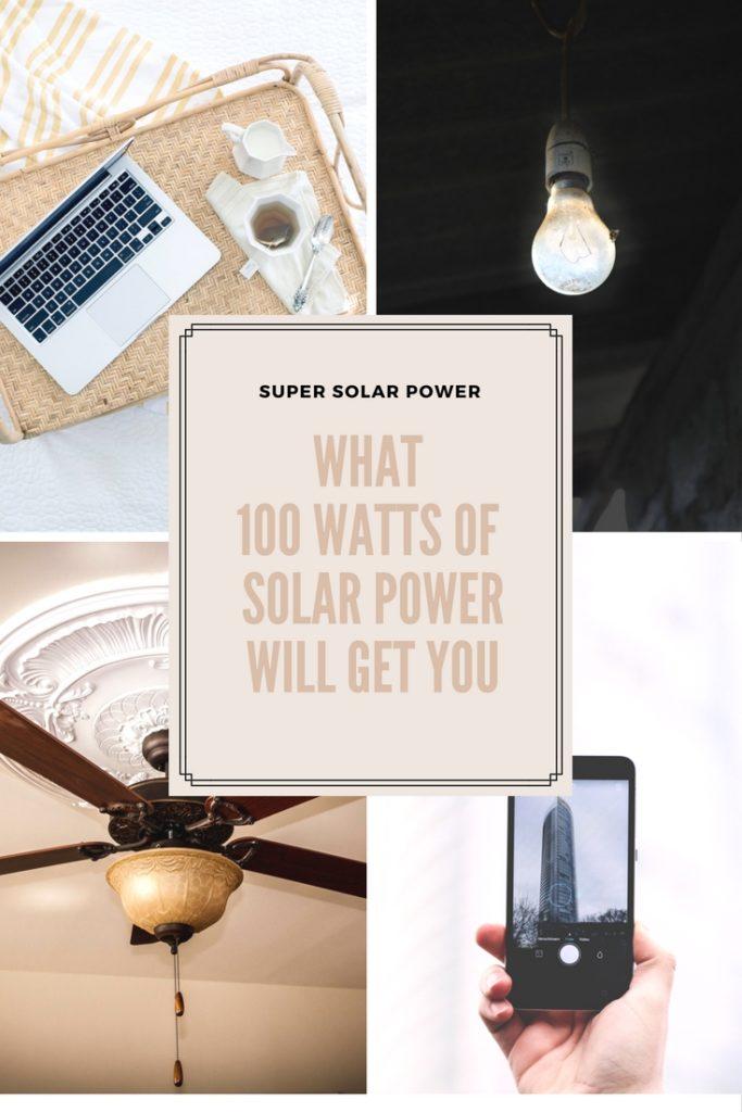 100 Watt Solar Panels