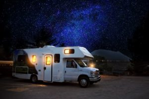 A photo of an RV for RV solar panels.