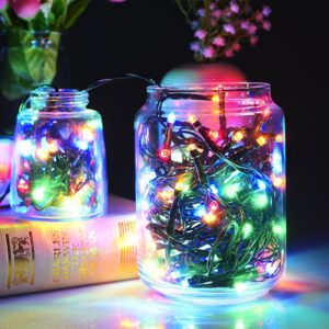 Colored Solar Power Christmas Lights