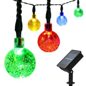 Solar Powered Christmas Lights - globes (picture)
