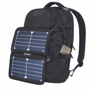 Solar Mobile Charger on Backpack