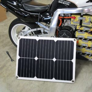Solar trickle charger for battery